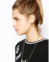 ASOS - Metallic 2 Pack Rectangle Shape Stud Earrings - Lyst