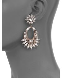 DANNIJO - Metallic Blanca Crystal Drop Earrings - Lyst