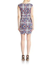 French Connection | Blue Electric Mosaic Sheath Dress | Lyst