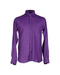 Ermenegildo Zegna - Purple Shirt for Men - Lyst