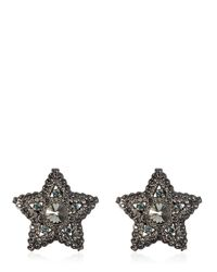 Lanvin | Metallic Star & Moon Swarovski Earrings | Lyst