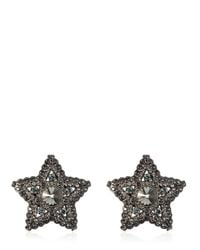 Lanvin - Metallic Star & Moon Swarovski Earrings - Lyst