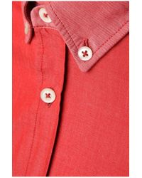 BOSS Orange | Red Slim-fit Casual Cotton Shirt 'edipoe' for Men | Lyst