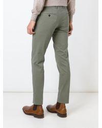 Brunello Cucinelli Green Slim Chino Trousers for men