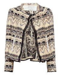 IRO | Black Kroe Crop Jacquard Jacket | Lyst