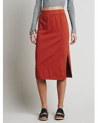 Free People - Brown Fp Beach Womens About Time Skirt - Lyst
