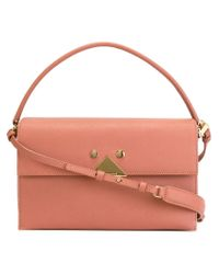 Emporio Armani | Pink Plaque Detail Shoulder Bag | Lyst