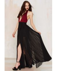 Nasty Gal | Black The Gift Of Wrap Skirt | Lyst
