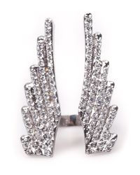 Joanna Laura Constantine - Metallic Wing Split Ring - Lyst