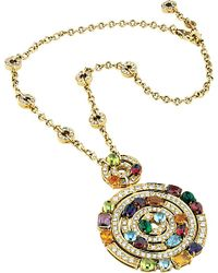 BVLGARI | Metallic Concentrica Colour Astrale 18ct Yellow-gold And Diamond Necklace | Lyst