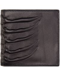 Alexander McQueen | Black Leather Rib Cage Wallet for Men | Lyst
