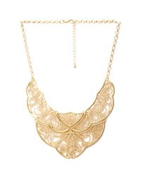 Forever 21 - Metallic Filigree Bib Statement Necklace - Lyst