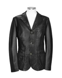 FORZIERI | Black Genuine Leather Blazer for Men | Lyst