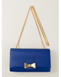 Chloé - Blue Bow Shoulder Bag - Lyst