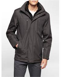 Calvin Klein - Gray White Label Nylon Hooded Jacket - Lyst