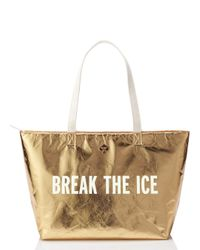 kate spade new york | Metallic Break The Ice Cooler Bag | Lyst