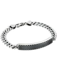 King Baby Studio - Metallic Curb Link Id Bracelet With Industrial Pattern - Lyst