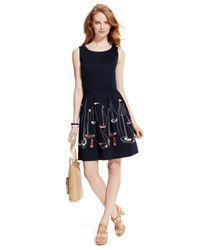Tommy Hilfiger - Blue Pleated Sailboat A-Line Dress - Lyst