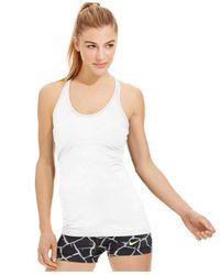 Nike | White Get Fit Dri-fit Racerback Tank Top | Lyst