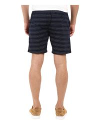 Kenneth Cole - Blue Horizontal Stripe Pull-on Shorts for Men - Lyst