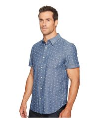 Lucky Brand - Blue Short Sleeve Ballona Shirt for Men - Lyst