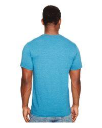 RVCA - Blue Vintage Dye Label Tee for Men - Lyst