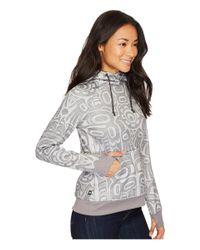 686 - Gray Cora Bonded Fleece Pullover - Lyst