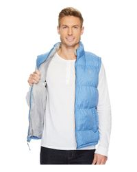 U.S. POLO ASSN. - Blue Basic Puffer Vest With Small Pony Logo for Men - Lyst
