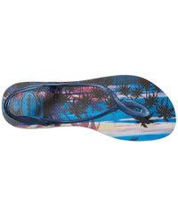 Havaianas - Blue Luna Print Sandal Flip Flop - Lyst