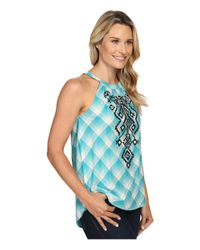 Roper - Blue 0423 Ombre Plaid Halter Neck Top - Lyst
