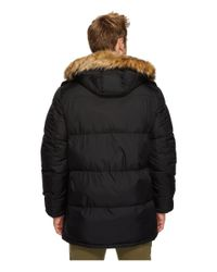 Tommy Hilfiger - Black Nylon Long Hooded Parka for Men - Lyst