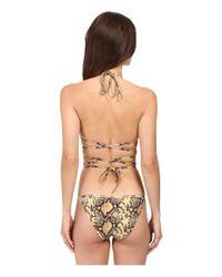 Michael Kors - Multicolor Snake-print String Bikini Set - Lyst