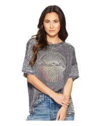 Free People - Black Graphic Jordan Tee - Lyst