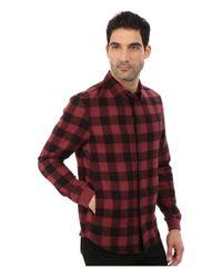 Alternative Apparel - Red Expedition Flannel Long Sleeve for Men - Lyst