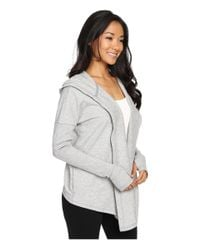 Under Armour - Gray Ua Modern Terry Open Front Cardigan - Lyst