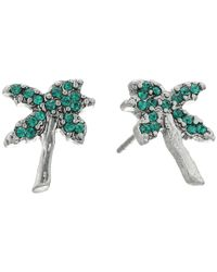 Marc Jacobs - Multicolor Charms Tropical Strass Palm Tree Studs Earrings - Lyst