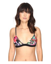 Nicole Miller - Multicolor La Plage By Xtini Bikini Top - Lyst