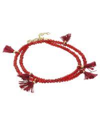 Shashi - Red Laila Wrap Bracelet - Lyst