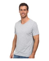 Nike - Gray Solid Futura V-neck Tee for Men - Lyst
