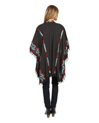 Scully - Gray Ezri Cool Spring Evenings Embroidered Wrap - Lyst