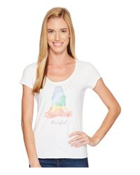 Life Is Good. - White Peaceful Yoga Smooth Tee - Lyst