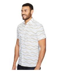 Perry Ellis - White Horizontal Wave Shirt for Men - Lyst