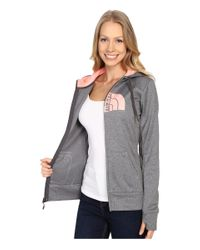 The North Face - Gray Fave Half Dome Full Zip Hoodie - Lyst