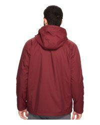Izod - Red Water Resistant Fleece-lined Jacket With Hidden Hood for Men - Lyst