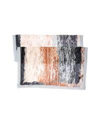 Steve Madden - Gray Summer Splash Opaque Scarf - Lyst