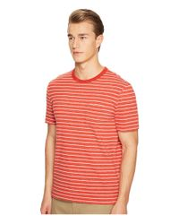 Jack Spade - Red Short Sleeve Striped Tee for Men - Lyst