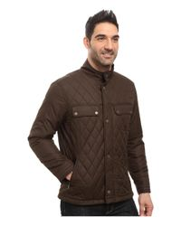 Rainforest - Brown Diamond Quilted Bomber Jacket for Men - Lyst
