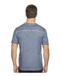 Agave - Blue Skipfry Short Sleeve V-neck Antique Wash for Men - Lyst