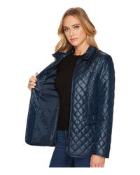 Ellen Tracy - Blue Short Quilted Jacket - Lyst