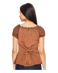 Scully - Brown Honey Creek Caitlyn Top - Lyst